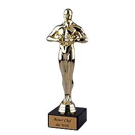 Pokal / Geschenk Bester Chef der Welt – Siegerfigur Viktor – 24 cm
