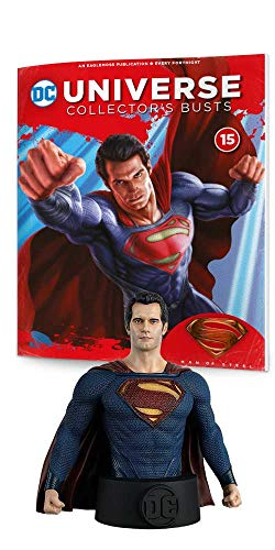 Eaglemoss DC Batman Universe Collector's Busts: #15 Superman (Man of Steel) Bust Toy, Multicolor, 5 inches ()
