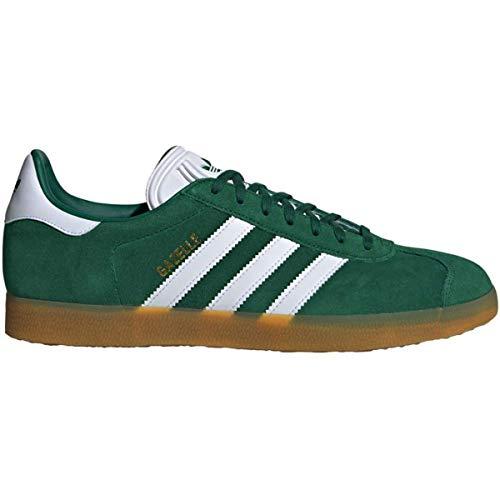 adidas Mens Gazelle Nubuck Collegiate Green White Trainers 7.5 US ()
