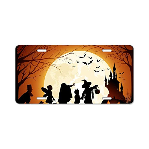BIKKI Personalized Custom Made Halloween Treat Metal License Plate -