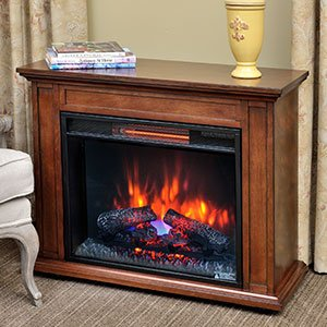 Duraflame Quartz Infrared Fireplace Heater in Mahogany