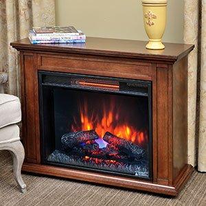Duraflame Quartz Infrared Fireplace Heater in Mahogany