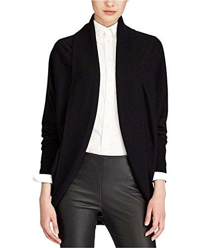 Polo Ralph Lauren Women's Open-Front Cardigan Polo Black Small