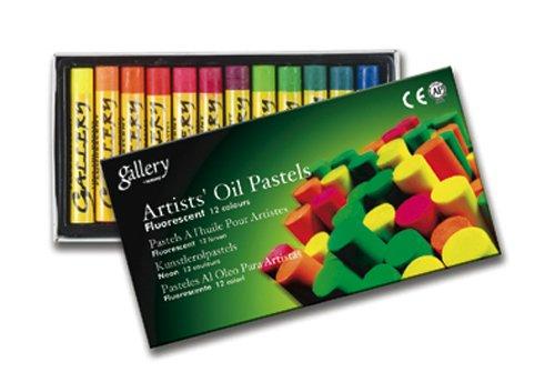 Mungyo Gallery Oil Pastels Cardboard Box Set of 12 Standard - Fluorescent ()
