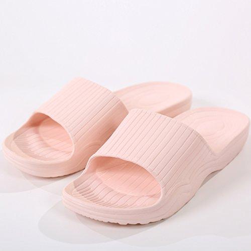 Zapatillas Interiores y Verano 36 B Color fankou 38 Pálido Antideslizante Rosa y Minimalista Sólido Baño hogar Elegante qqF48x0X