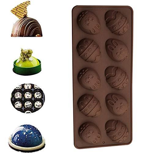 Molde De Pastel De Pascua Molde De Chocolate Agrietado Herramienta Para Hornear DIY Molde De Hielo, Moldes De Silicona Para Pasteles