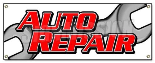 AUTO REPAIR BANNER SIGN car shop mechanic oil change repairs