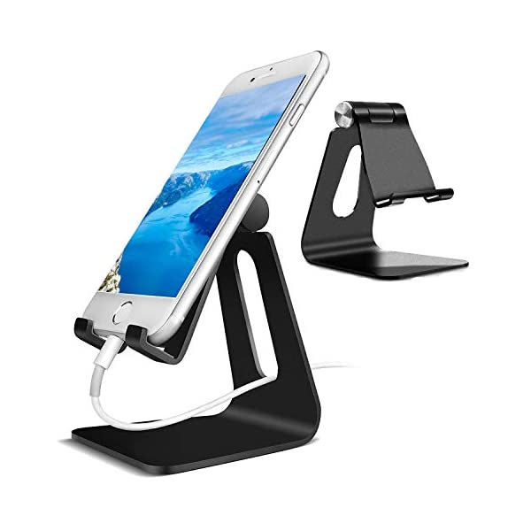 Adjustable Cell Phone StandAdjustable Cell Phone Stand, CreaDream Phone Stand, Cradle, Dock, Holder, Aluminum Desktop Stand Compatible with iPhone Xs Max Xr 8 7 6 6s Plus 5s Charging