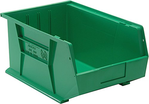 Quantum Storage Systems QUS255 Ultra Stack And Hang Bin Green - Pack of 4 ()