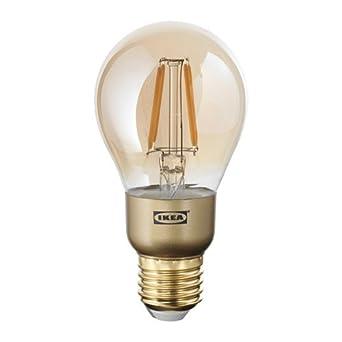 Ikea Lunnom Led Lampe In Braun Klarglas Kugelformig E27 400lm