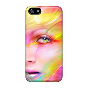Apple Iphone 5/5s WgM13920iSkp Allow Personal Design HD Colorful Face Series Shock Absorption Hard Phone Covers -ErleneRobinson