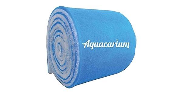 "10-ft Blue White Bonded Aquarium Media Pad 12/"" Wide Fiber Floss Filter Material"