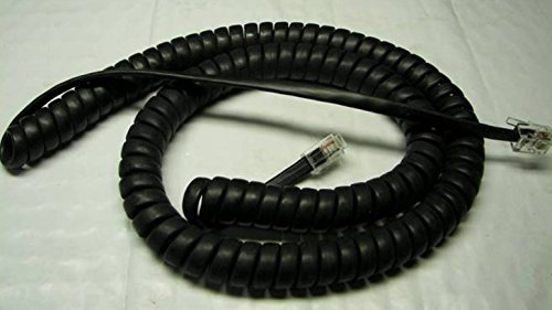 Lot of 5 Flat Black 12' Ft Handset Cords for Avaya 1400 1500 1600 1700 Series IP Office Phone Tail/Leader 1408 1416 1508 1516 1603 1608 1616 1616i 1708 1716 Digital VoIP (5-Pack) by DIY-BizPhones ()