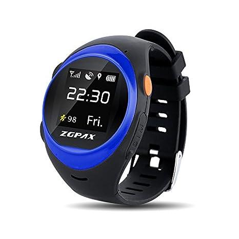 Amazon.com: Zgpax S888 WiFi Smart Watch Niños Elder SOS GPS ...