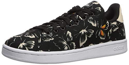adidas Women's Cloudfoam Advantage Cl Sneaker, Black/Black/Linen, 7.5 M US
