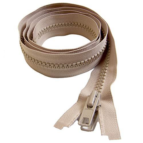 YKK Zipper, Beige 48