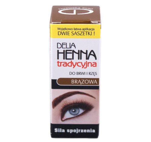 Delia Traditional Henna Brown 4g 0 14oz For Dying Eyeleashes And