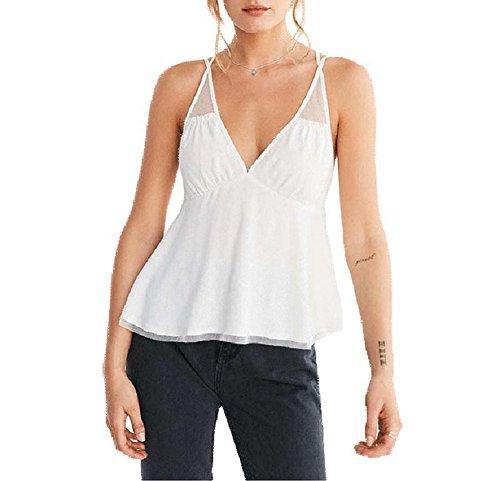 Hello 6 Summer Women Backless Chiffon V Neck Sexy A-line Fashion Vest (Hello Sexy In Spanish)