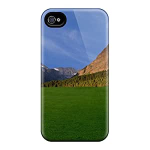 EiVTKAF7296nkGwf Case Cover Protector For Iphone 4/4s Beautiful Grass Field Case