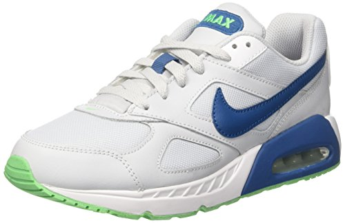 Nike Air Max Ivo GS, Zapatillas Para Niños Blanco (Pure Platinum/industrial Blue/white/electro Green)