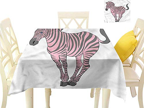 Christmas Tablecloth Pink Zebra,Baby Animal Wildlife Table Cover W 54