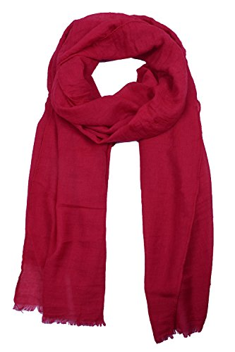 SUNNYTREE Women's Head Scarf Solid Color Fashion Scarf Long Head Scarf Red](Silk Triangle Head Scarf)
