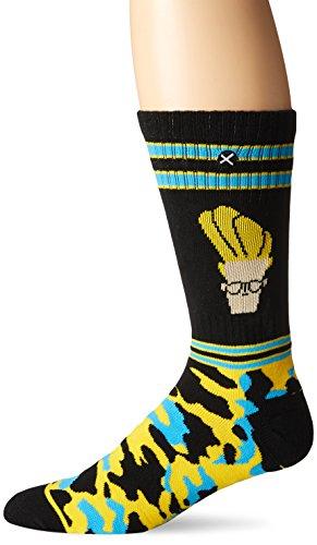 Odd Sox Mens Johnny Bravo Camo  Knit   Multi  Sock Size 10 13 Shoe Size  6 12