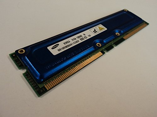 Rdram Rimm Memory Module - Samsung RAM Memory Module 128MB PC600-53 RDRAM RIMM non-ECC MR16R0828AN1-CG6DF