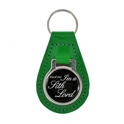 Boxed Sith Accessories (Trust Me I'm A Sith Lord Design Keyring Gift Boxed - KELLY GREEN LEATHER)
