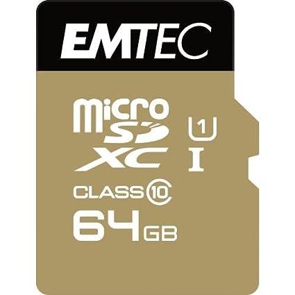 Emtec microSD Class10 Gold+ 64GB Memoria Flash MicroSDXC ...