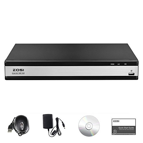 ZOSI 16CH 1080P DVR Video Surveillance Recorder with 2TB Hard Drive - 4-in-1 Supports HD-TVI, CVI CVBS AHD 960H Security Cameras, Remote Viewing, Motion Detection by ZOSI (Image #1)