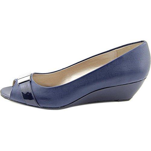Alfani Chorde Women Us 8 Blauwe Peep Toe Sleehak