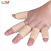 Luniquz Elastic Basketball Finger Sleeve Protector Sports Finger Grip Aids