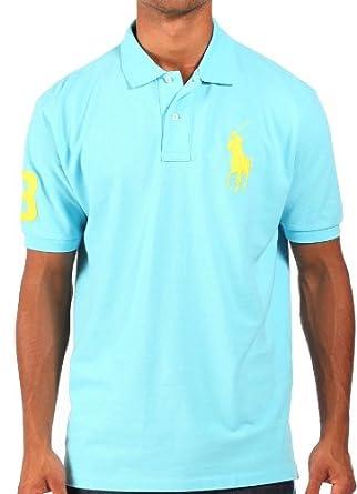 f1b5c9500c51 Ralph Lauren - Polo avec logo grand poney - bleu ciel - homme - Taille XL