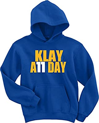 "Klay Thompson Golden State Warriors ""Klay All Day"" Hooded Sweatshirt"