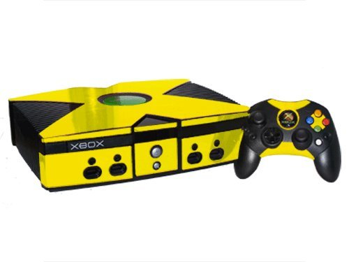 Microsoft Xbox Skin (Original) - NEW - YELLOW CHROME MIRROR system skins faceplate decal mod