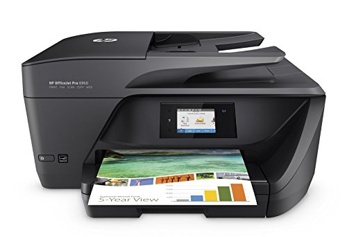 HP OfficeJet Pro 6960 Multifunktionsdrucker (Drucker, Scanner, Kopierer, Fax, HP Instant Ink, WLAN, LAN, HP ePrint, Apple Airprint, USB, 600 x 1200 dpi) schwarz