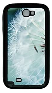 Dandelion Flower TPU Rubber Soft Case Cover For Samsung Galaxy Note 2 / Note II/ N7100 - Black