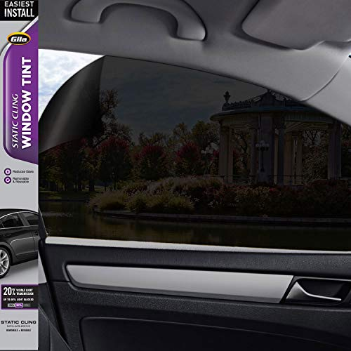 (Gila Static Cling 20% VLT Automotive Window Tint DIY Easy Install Glare Control Privacy 2ft x 6.5ft (24in x)