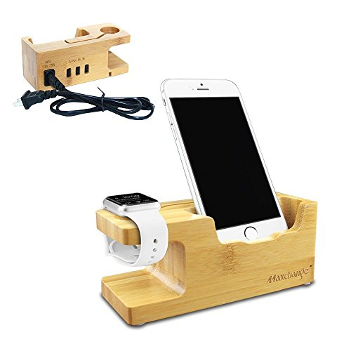 maxchange-apple-watch-stand-with-3-usb-hubs-bamboo-wood-charging-dock-charge-station-stock-cradle-ho