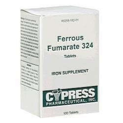 Ferrous Fumarate 324 Mg, Boxed, 100ct Iron Supplement (Pack of 6) by CYPRESS PHARMA