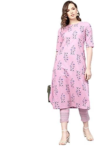 GoSriKi Women's Cotton Printed Straight Kurta with Palazzo