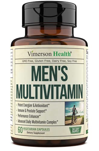 Men's Daily Multimineral Multivitamin Supplement – Vitamins A, C, E, D, B1, B2, B3, B5, B6, B12. Magnesium, Biotin…