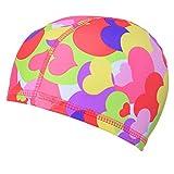 Kylin Express Sports Stylish Swim Cap Bathing Cap Swimming Hat for Women, A