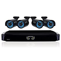 Night Owl Security B-A720-41-4 4 Channel HD Video Security System with 1 TB HDD and 4x720p HD Cameras (Black)