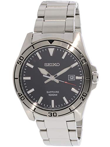 (Seiko Mens Analogue Quartz Watch with Stainless Steel Strap SGEH63P1)