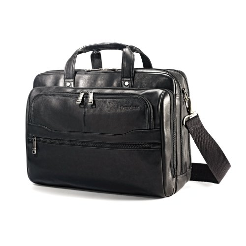 Samsonite Vachetta Leather 2 Pocket Business Case Black - Samsonite Black Briefcase