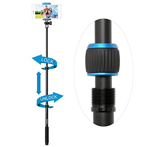 fantaseal x sport selfie stick action camera selfie stick cell phone selfie pole for gopro. Black Bedroom Furniture Sets. Home Design Ideas