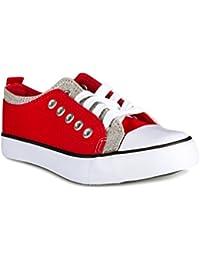 Girl's Canvas KIX Double Upper Lo-Top Sneaker