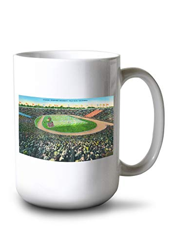 (Lantern Press Palo Alto, California - Stanford University; Stadium View (15oz White Ceramic Mug))